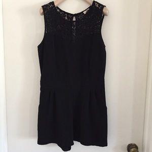 Black Lace Romper M